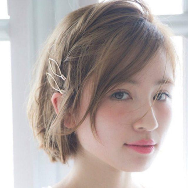 まとめ髪が可愛い夏にオススメ ショートヘア向け ヘアアクセ を活用