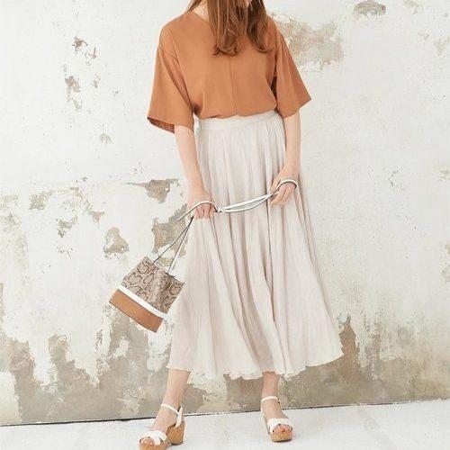 2019春夏ユニクロはじめ人気の高見えスカート