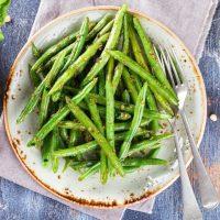 夏の肌に優しいいんげん豆のソテーのレシピ