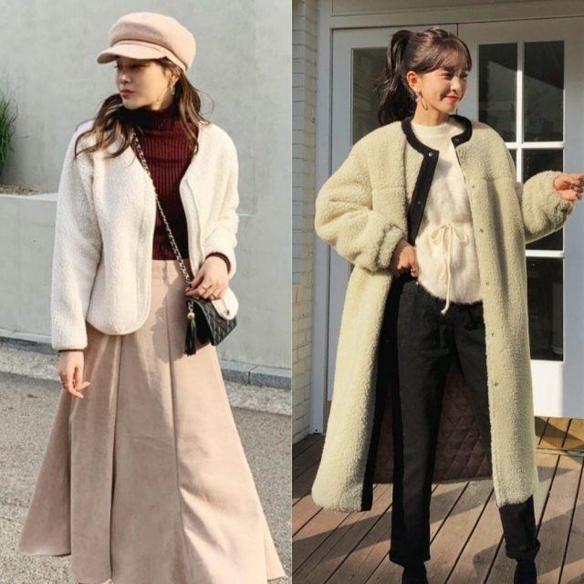 2019冬旬なボアアウターをレディに着こなすコツ
