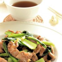 免疫力up小松菜と砂肝の中華炒めのレシピ