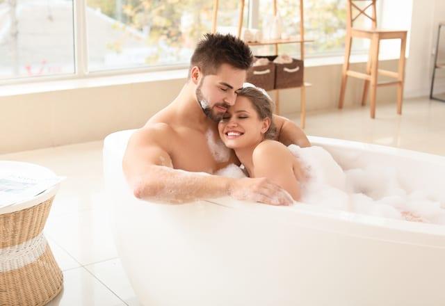 彼と盛り上がるお風呂タイム